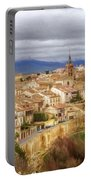 Segovia Cathedral View Portable Battery Charger