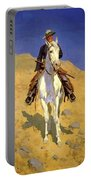 Self Portrait On A Horse 1890 Portable Battery Charger