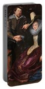 Self Portrait With Isabella Brandt, His First Wife, In The Honey Portable Battery Charger
