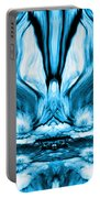 Self Reflection - Blue Portable Battery Charger