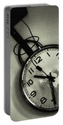 Selfportrait On A Clock Portable Battery Charger