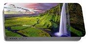 Seljalandsfoss Waterfall Portable Battery Charger