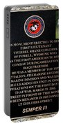 Semper Fi To The 1st Man Down In Iraqi Freedom Plaque Portable Battery Charger