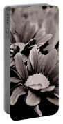 Sepia Flowers Portable Battery Charger