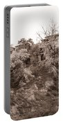 Sepia-toned Blooming Almond Trees Of Fikardou Village 2 Portable Battery Charger