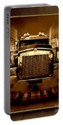 Sepia Toned Kenworth Abstract Portable Battery Charger