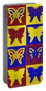 Serendipity Butterflies Brickgoldblue 1 Portable Battery Charger