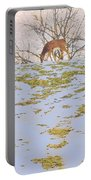 Serenity In The Spring Snow Portable Battery Charger