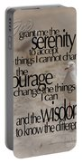 Serenity Prayer 01 Portable Battery Charger
