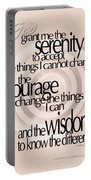 Serenity Prayer 06 Portable Battery Charger