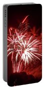 Series Of Red And White Fireworks Portable Battery Charger