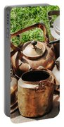 Set Of Ancient Teapots  Portable Battery Charger