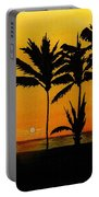 Setting Sun In The Tropics Portable Battery Charger