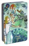 Seven Of Cups And Strange Dreams Portable Battery Charger