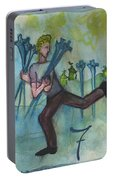 Seven Of Swords Illustrated Portable Battery Charger