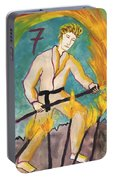 Seven Of Wands Illustrated Portable Battery Charger