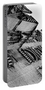 Seville - Giralda In Black And White Portable Battery Charger