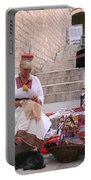 Sewing Souvenirs In Old Dubrovnik Portable Battery Charger