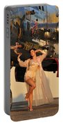 Sexy 1940s Pin-up Girl In Lingerie Portable Battery Charger