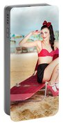 Sexy Beach Pin Up Girl Wearing High Heels Portable Battery Charger