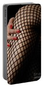Sexy Legs In Fishnet Stockings Portable Battery Charger