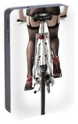 Sexy Woman Riding A Bike Portable Battery Charger