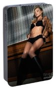 Sexy Young Woman In Lingerie Portable Battery Charger
