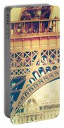 Shabby Chic Eiffel Tower Detail Paris Portable Battery Charger