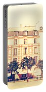 Shabby Chic Street Of Paris Portable Battery Charger