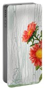Shabby Chic Wildflowers On Wood Portable Battery Charger