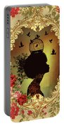 Shabby Fae Silhouette  Golden Portable Battery Charger