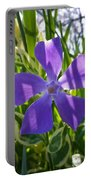 Shaded Greater Periwinkle Portable Battery Charger