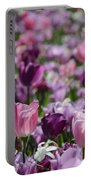 Days Of Wine And Tulips Portable Battery Charger