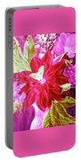 Shades Of Pink Flowers Portable Battery Charger