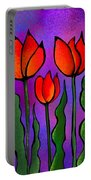 Shades Of Tulips Portable Battery Charger
