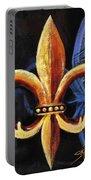 Shadow Fleur De Lis Portable Battery Charger
