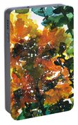 Shadows Of Sunflowers Portable Battery Charger