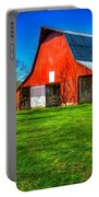 Shadows On The Barn Tennessee Farm Art Portable Battery Charger