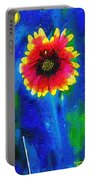 Shaggy Moon For A Shaggy Flower Portable Battery Charger