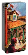 Shakespeare Performing At The Globe Theater Portable Battery Charger