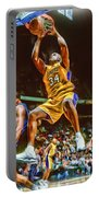 Shaquille O'neal Los Angeles Lakers Oil Art Portable Battery Charger