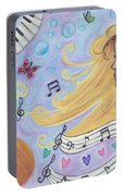 She Dreams In Music Portable Battery Charger