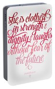 She Is Clothed Proverbs 31 25 Portable Battery Charger