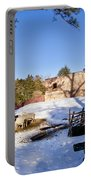 Sheep Farm In Winter Portable Battery Charger