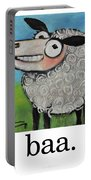Sheep Poster Portable Battery Charger