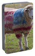 Sheep With American Flag Portable Battery Charger