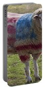 Sheep With American Flag Portable Battery Charger by Garry Gay