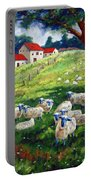 Sheeps In A Field Portable Battery Charger