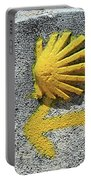 Shell And Arrow Marker, El Camino, Spain Portable Battery Charger
