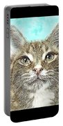 Shelter Cat Fantasy Art Portable Battery Charger